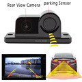 For all cars universal 2 in 1 Automobile Car sony RearView Camera With Backup Parking Sensor Radar System For Parking Assistance