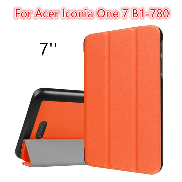 Ultra Slim Custer 3-Folding Folio Stand PU Leather Magnetic Shell Cover Case For Acer Iconia One 7 B1-780 Tablet +Film+Stylus