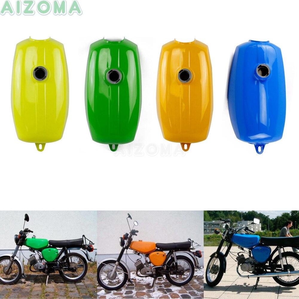6 réservoirs de carburant d'huile en acier de moto de couleurs pour Simson S50 S51 S70 S 50 S 51 S 70 rétro réservoirs de gaz personnalisés réservoir de carburant de banane