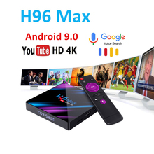 smart console tv box h96 max android 9.0 nederlands Max M3U Google Play 2.4/5.0G WiFi Bluetooth 4K 3D RK3318
