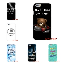 For Sony Xperia Z Z1 Z2 Z3 Z4 Z5 compact M2 M4 M5 E3 T3 XA Aqua Don Not Touch My Accessories Phone Cases Covers