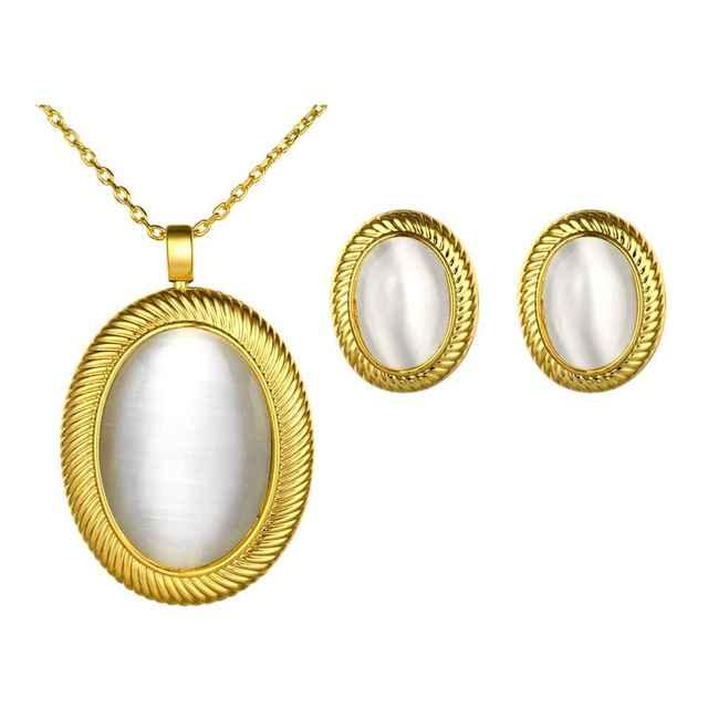 Envío de la Nueva 2015 traje de Cristal Austriaco conjunto de joyas Oval Bead necklace + earrings femme collier plastron