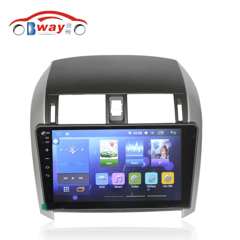 Bway 10.2 car radio for TOYOTA COROLLA 2007 2008 2009 2010 2011 2012 2013 android 5.1 car dvd player with bluetooth,gps,DVR car rear trunk security shield shade cargo cover for nissan qashqai 2008 2009 2010 2011 2012 2013 black beige