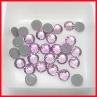 Hot fix Rhinestone Nail steen Jurken Licht Amethist crystal trim bruiloft Vestidos verfraaien adhesive steen SS4 1440 stks Art Deco