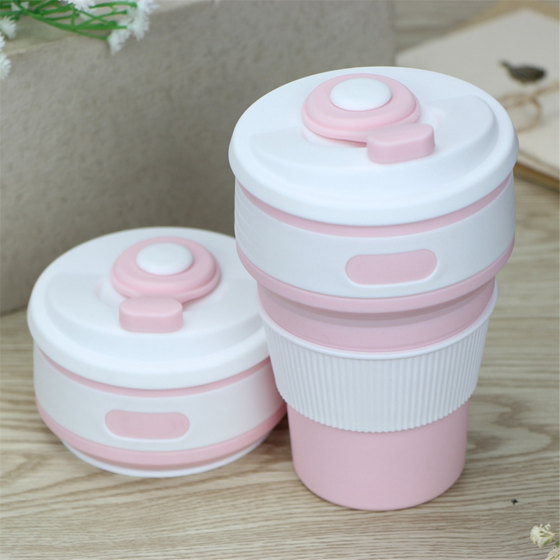 Collapsible Coffee Cup Pink Cup