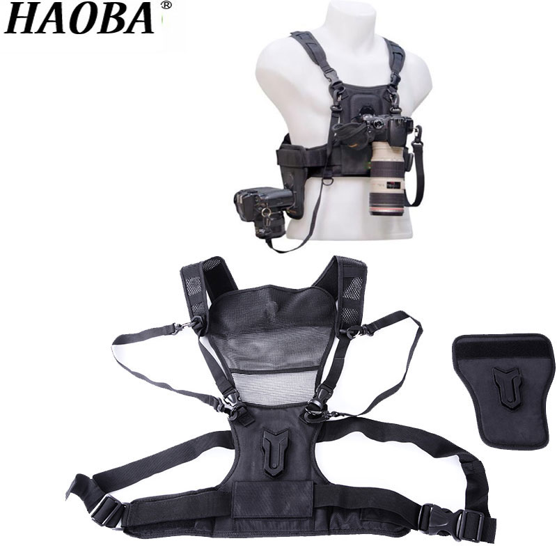 HAOBA Professional Outdoor Camera Strap With Double Shoulder Strap Quick Loading Photography Vest For Digital SLR