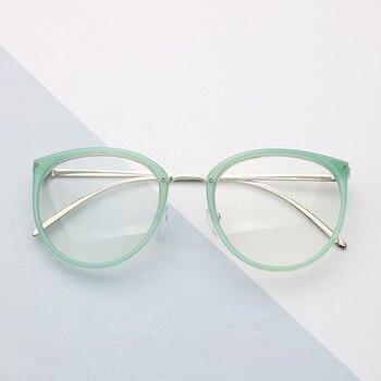 519f556092 KUJUNY óptica gafas de marco de lente transparente miopía gafas mujeres de  Metal Vintage gafas de mujer marcos