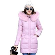 2017 Winter Jackets Women Warm Coats Plus Size Fur Hood Cotton Padded Middle Aged Female Parka Wadded Parka Slim Outwear