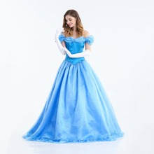 Fancy Dress Princess-Costume Cinderella Role Play Carnival Halloween Party Sexy Adult