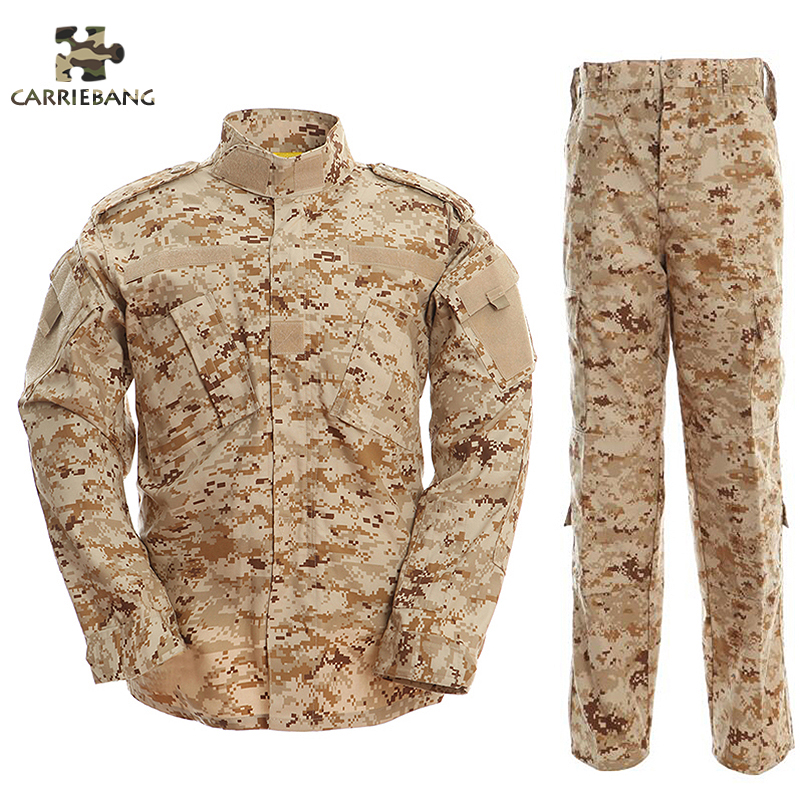 Desert Camouflage Men Army Military Uniform Tactical Military Camouflage Suit Combat Uniform US Army Military Clothing