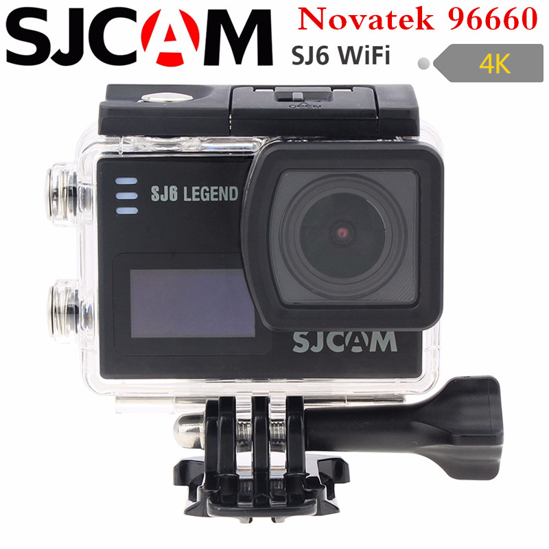 SJCAM SJ6 legend wifi Action Camera Notavek 96660 Ultra HD 4K 24fps 1080p Waterproof 2.0 Touch Screen Remote Sports DV kamera in stock sjcam legend sj6 wifi notavek 96660 4k 24fps ultra hd waterproof camera action cam 2 0 touch screen remote sport dv