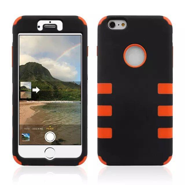 dreamwork`s store Для Apple iPhone 6 plu S 6 S plu S 5.5 inch ca s e Гибридный противоударный 3 в 1 силиконовой резины Прочный ca s e s Чехол
