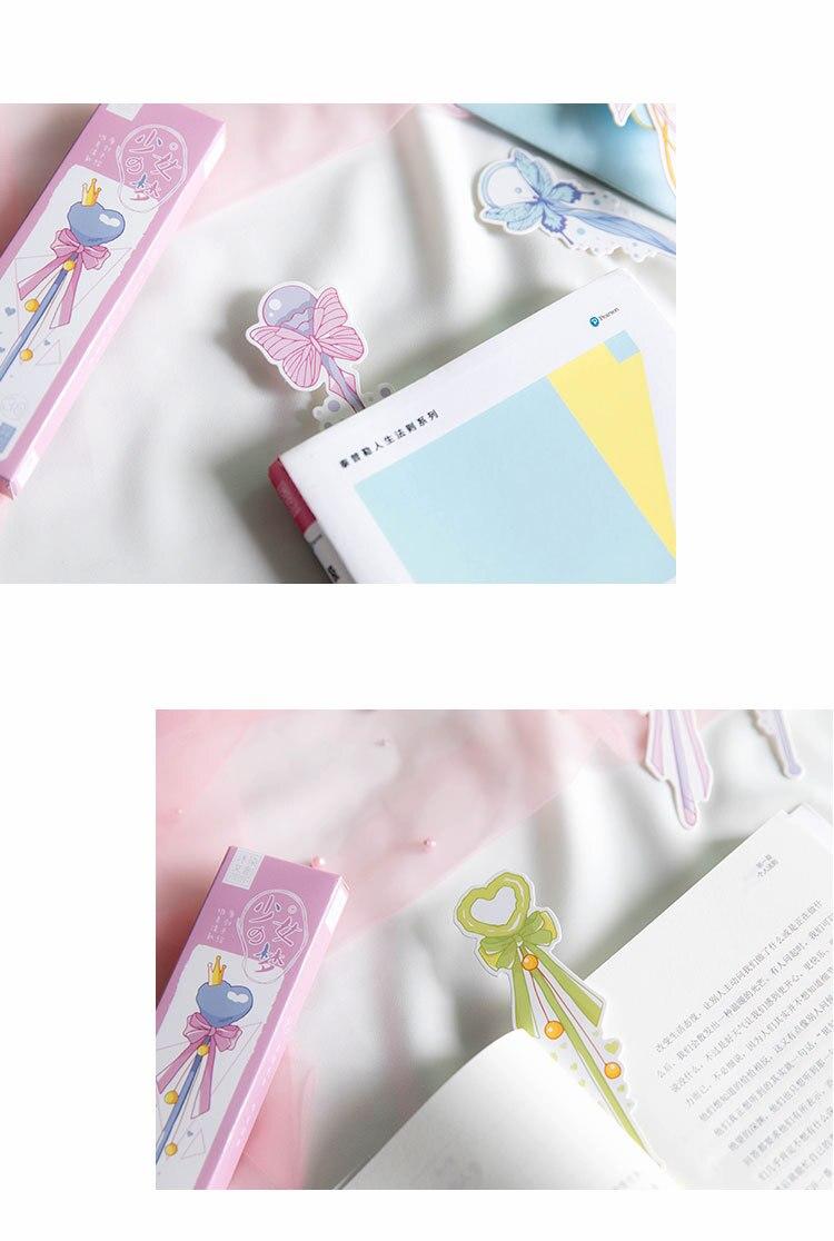 30 шт./упак. девушки Волшебная палочка бумага закладки мультфильм книга с изображением животных держатель карты сообщения канцелярские Jack школьной подарок для ребенка