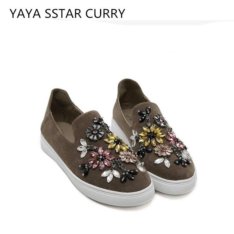 Prix pour YAYA ÉTOILES CURRY Nouveau 2017 Totem Watermong Table Chaussures Plat avec chaussures confortables à fond plat paresseux femmes chaussures de marée