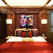 Oil Painting On Canvas Suppliers Neilly Abstract Man and Woman Face Modern Wall For Living Room