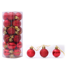 24Pcs 3cm Modern Christmas Tree Ball Baubles Xmas Party Wedding Hanging Ornament 2017 Decorations For