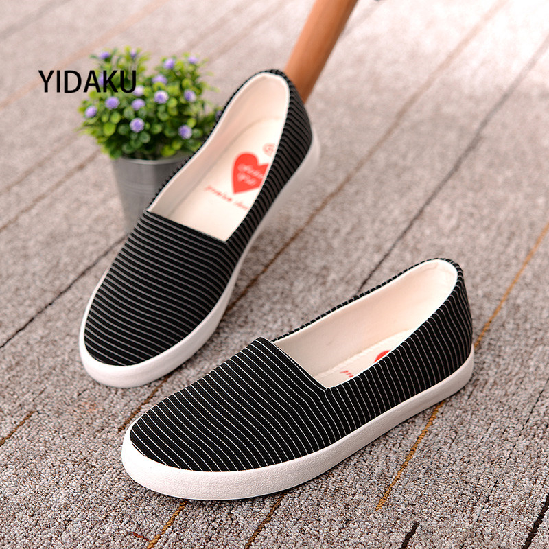 Womens Cloth Slip on Slipper Canvas Fashion Round Toe Shallow Mouth Casual Shoes