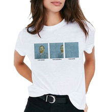 Van Gogh Oil Art women t shirt Print t-shirt female top Casu