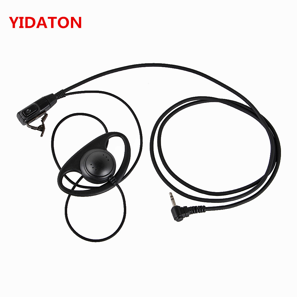 YIDATON D Shape Earpiece Headset PTT For Motorola COBRA Two Way Radio MH230R MS350R MS350R MR350R MT350R MD200TPR Walkie Talkie