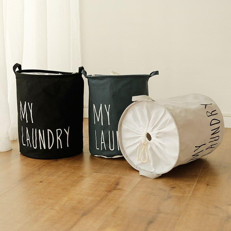 Puting Portable Laundry basket toy storage bag large box Cotton Linen washing clothes my laundry