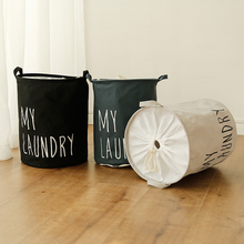 Puting Portable Laundry basket toy storage bag large box Cotton Linen washing clothes my laundry