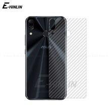 Película trasera de fibra de carbono suave para Asus ZenFone 7 Pro 5 5Z 6 ZS670KS ZS671KS ZS630KL ZS620KL ZE620KL Protector de pantalla trasera sin vidrio
