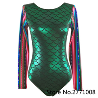 2017 Hot New Sexy Mermaid Swimsuit Women One Piece Swimwear Vintage Retro Long Sleeve Bodysuit Swimming Suit For Women Beachwear