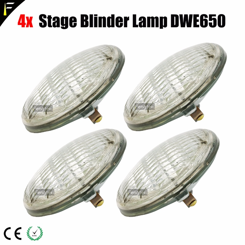 4x Par 36 120V/650W (DWE) Studio Blinder Matrix Lamp Bulb Source WW2/4/8 Performance Blinders Warm 3200K Lights Effect