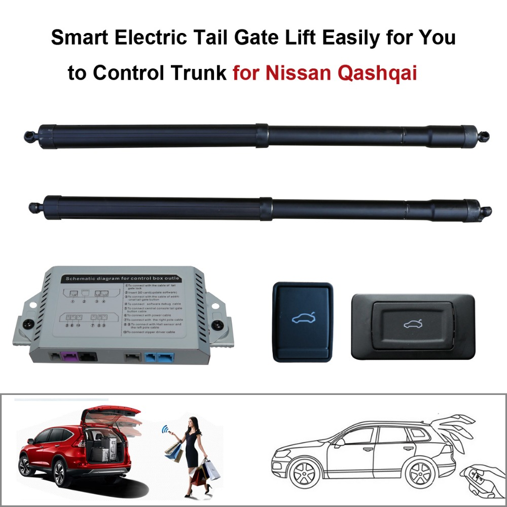 Smart Auto Electric Tail Gate Lift For Nissan Qashqai 2016 Control Set Height Avoid Pinch With Electric Suction