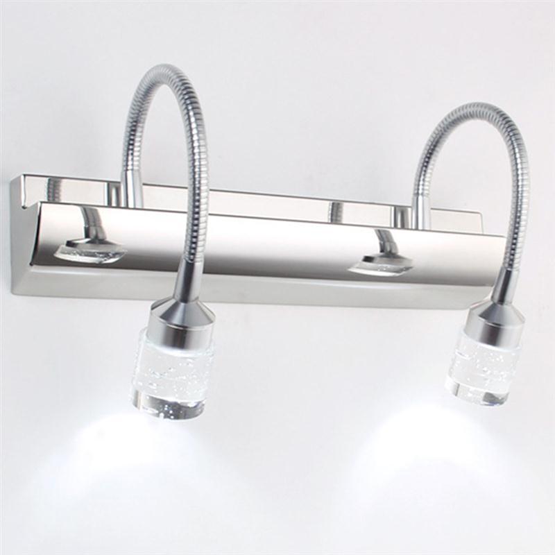 ФОТО Crystal Bathroom Make Up Wall Lamp Light Vanity Sconces Led Wall Mirror Light Lighting Fixtures For Home Luminaire Wandlamp