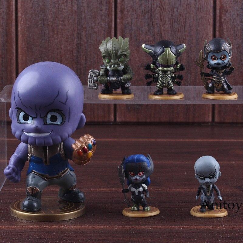 Avengers Infinity War Thanos Corvus Glaive Proxima Midnight Ebony Maw Black Dwarf Supergiant Marvel Action Figures Toys 6pcs/set 1