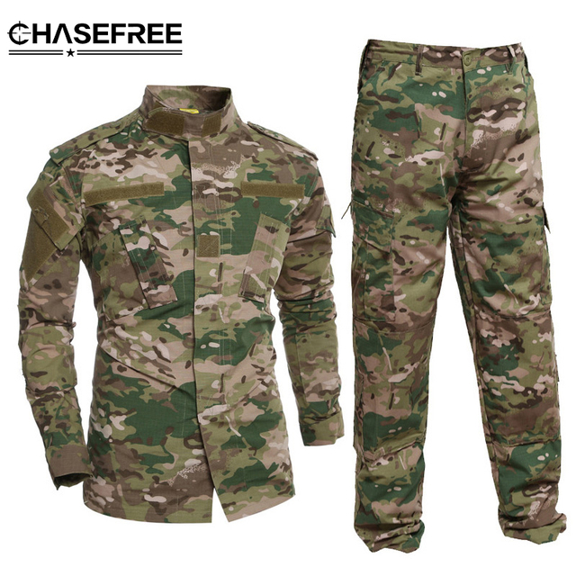 2862596ecd0ac Hombres Tactical Militar camuflaje chaqueta Trajes uniforme de combate  ejército ee.uu. airsoft CAMO