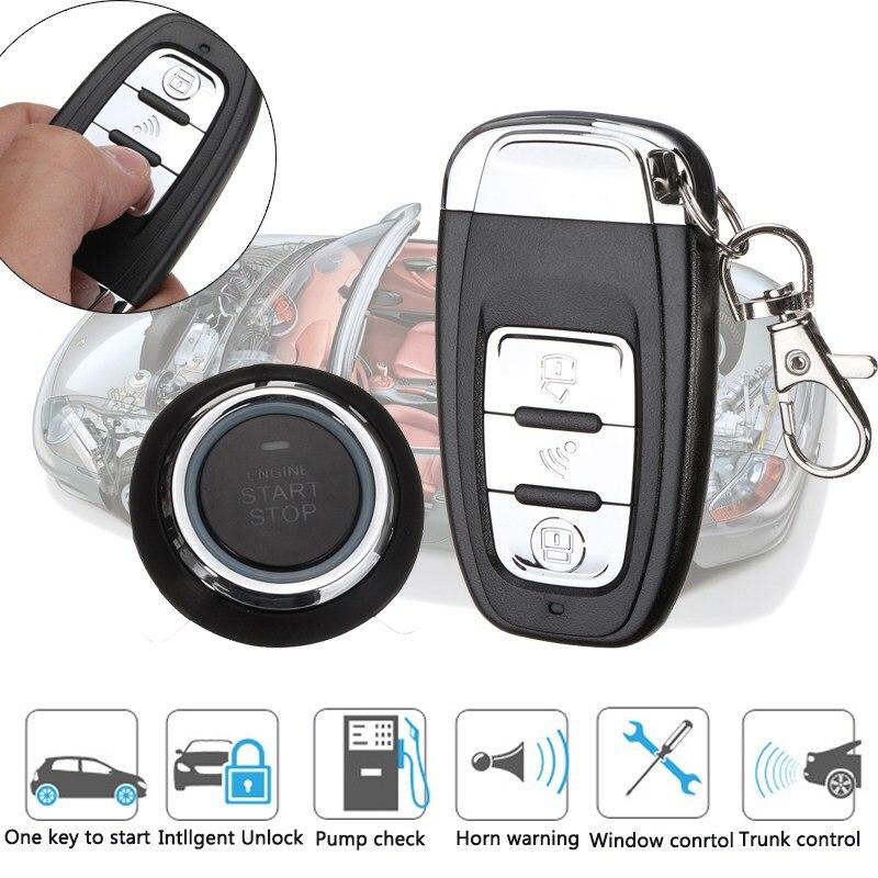 KROAK авто сигнализации системы безопасности Система бесключевого доступа кнопка дистанционного двигатели для автомобиля Старт 12 В