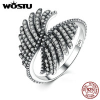 Luxury 100 Authentic 925 Sterling Silver Phoenix Feather Finger Rings Compatible With Original Pan Ring Fine