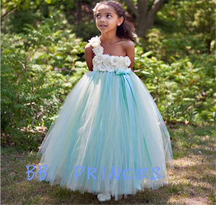 Girls dress  with flowers show hosted super Peng Princess Dress private custom женские джинсы without tag 028