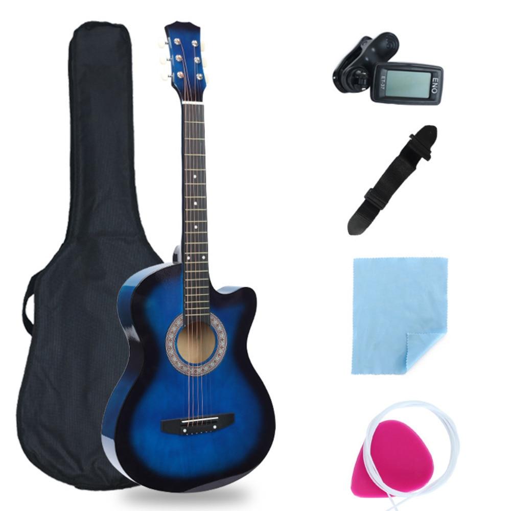 38 tums saknad vinkelgitarr full utrustning nybörjare introduktion - Skola och pedagogiska förnödenheter - Foto 2