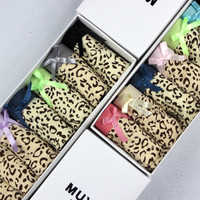Darmowe wysyłki panie uroczy mody sexy wygodne majtki damskie niskiej talii leopard wydruku majtki bielizna