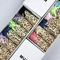 Envío gratis para mujer moda encanto Sexy cómodos calzoncillos la mujer bajo la cintura bragas leopardo de la ropa interior