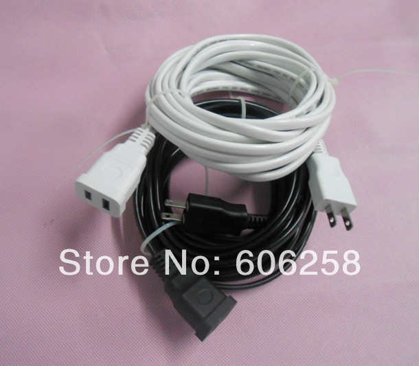 2pin Power Socket Extension Cord US plug Socket Two wire Extension ...