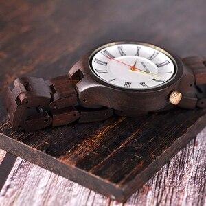 Image 4 - BOBO kuş yeni lüks bayan ahşap saatler özel tasarım el yapımı ahşap kol saati kadınlar relogio feminino Dropship