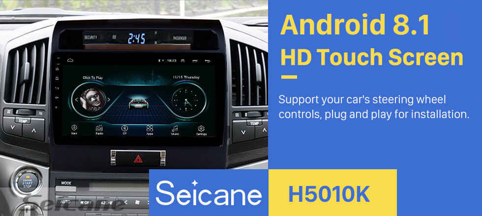 "Best Seicane 10.1"" Android 8.1 car Radio GPS Navigation for 2007-2017 Toyota Cruiser FJ with Touchscreen Bluetooth OBD2 WiFi AUX SWC 0"