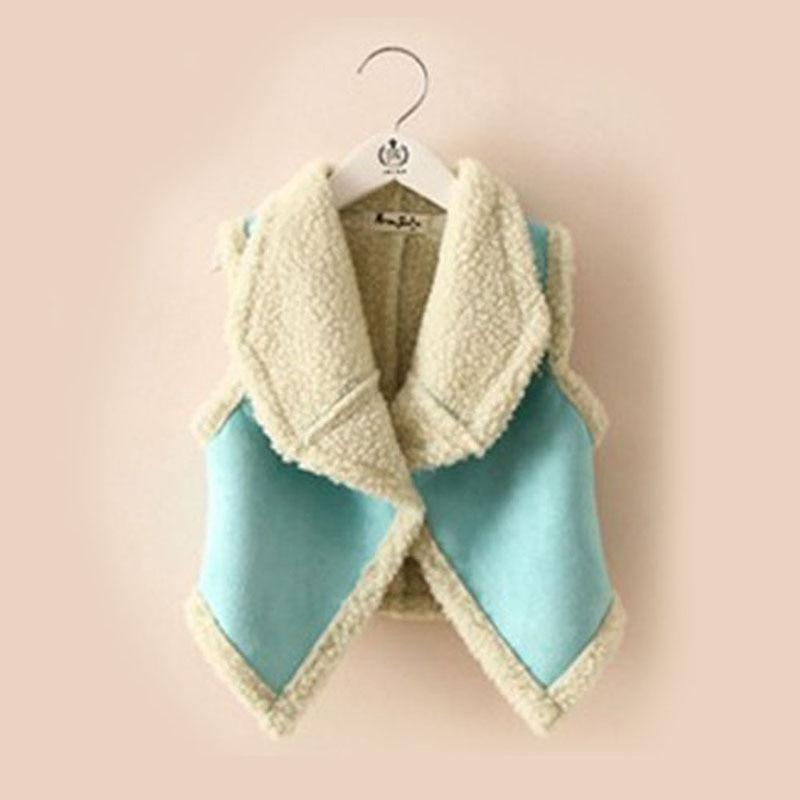 fashion autumn winter fur girl vest childrens clothing