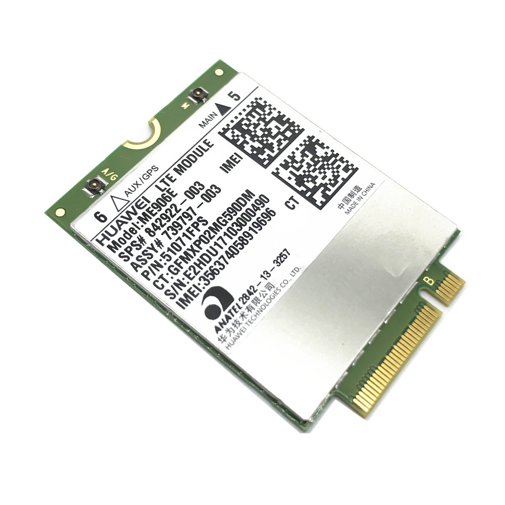 FOR HUAWEI ME906E NGFF LTEHSPA+ FDD 4G WLAN WCDMA module Card Unlocked for HP lt4112