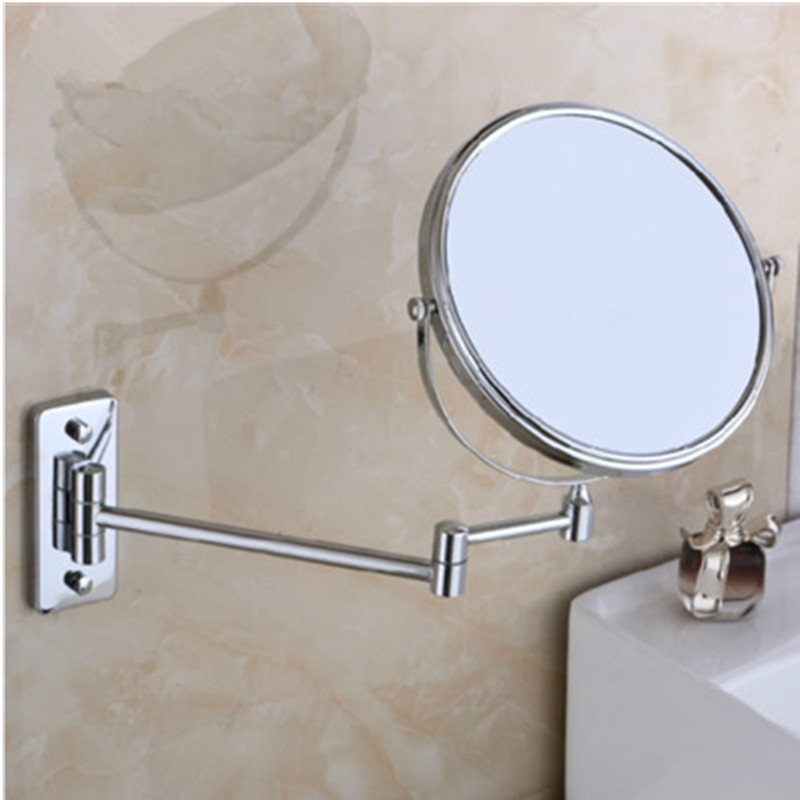 6 and 8 Dual Sided Wall Mount 3x Magnification Folding Make-up Mirror  For Bathroom Livingroom Shower Mirror Espejo