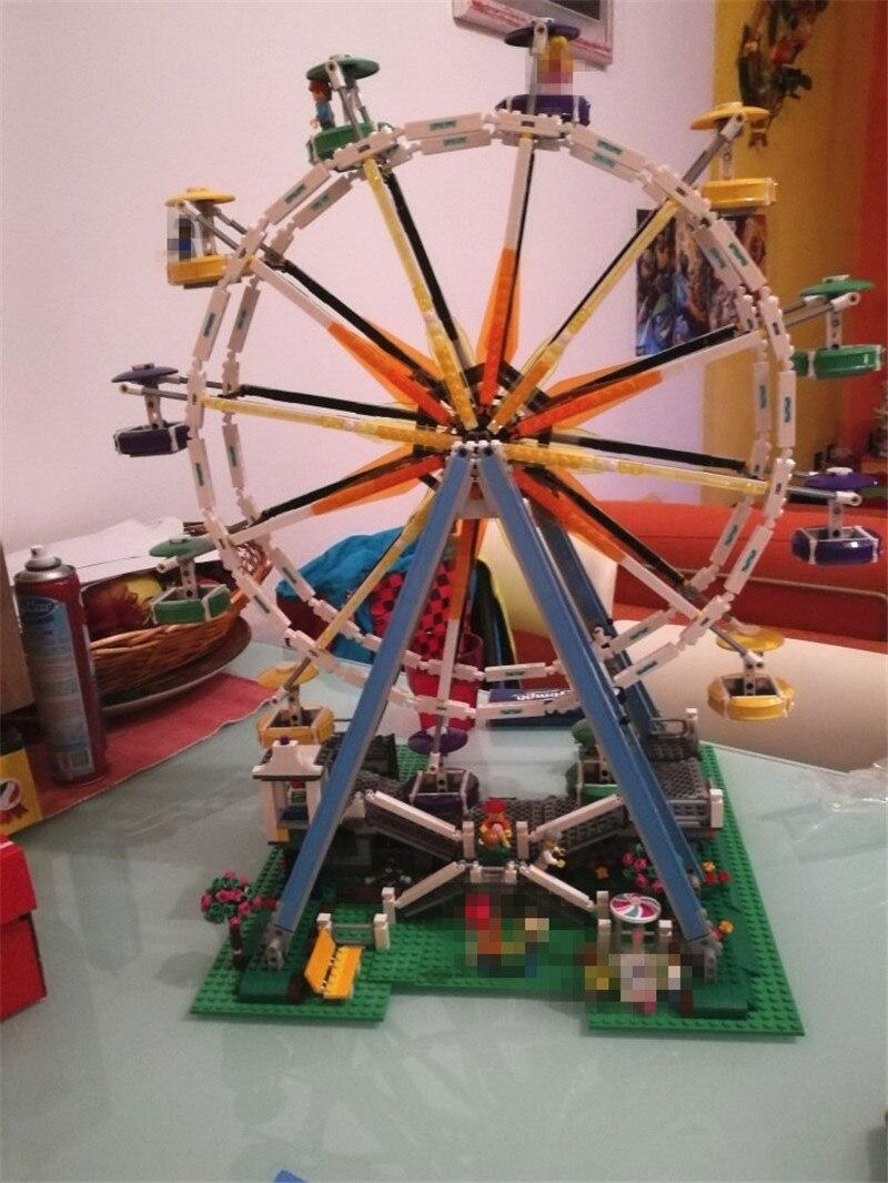 City Expert Ferris Wheel Model Building Kits Assembling Block Bricks Compatible Lepins Educational Funny Toy Boys lepin 15012 2478pcs city series expert ferris wheel model building kits blocks bricks lepins toy gift clone 10247