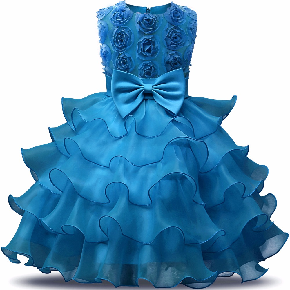 Summer Formal Kids Dress For Girls 2018 Princess Wedding Party Dresses Girl Clothes 6 7 Years Dress Bridesmaid Children Clothing