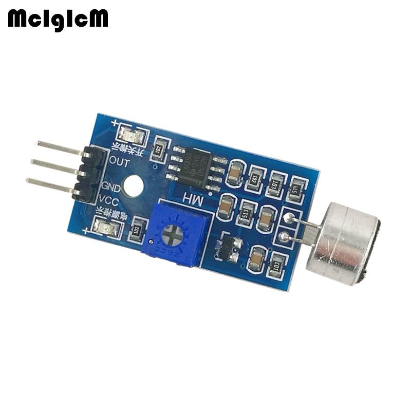 MCIGICM 200pcs Sound Detection Sensor Module Sound Sensor Intelligent Vehicle