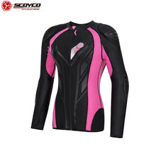 SCOYCO 21 WomenMotorcycle Riding Armor Clothing Shockproof Soft Clothing Driving Armor 5 pieces Protective Gear Four Seasons