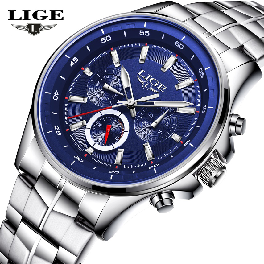2017 NEW LIGE Men Watches Top Luxury Brand Waterproof Man Date Quartz Clock Fashion Casual Sports Wrist Watch Relogio Masculino 2017 new top fashion time limited relogio masculino mans watches sale sport watch blacl waterproof case quartz man wristwatches