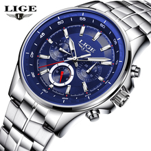 2017 NEW LIGE Men Watches Top Luxury Brand Waterproof Man Date Quartz Clock Fashion Casual Sports Wrist Watch Relogio Masculino